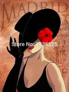 Ucuz Tuval Üzerinde el Boyalı Özet Şapka Kadın Portre Resimlerinde 1 Panel Sanat Modern Yağlıboya Resim Oturma Odası Dekorasyon Çerçevesiz, Satın Kalite resim ve hat sanatı doğrudan Çin Tedarikçilerden: Sıcak haber:Biz destek özelleştirebilirsiniz resim ve herhangi bir boyut, sormak için bekliyoruz fiyat.  &nb