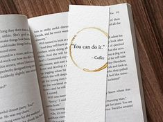 You Can Do It Coffee Quote Coffee Lover Gift Funny gift For Teacher Unique Bookmarks Coffee Lover Gift Encouragement Gift Study Gift Creative Bookmarks, Diy Bookmarks, Bookmark Craft, Bookmark Ideas, Watercolor Bookmarks, Watercolour, Book Markers, Motivational Gifts, College Gifts