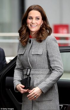 Radiant royal: Kate, who is expecting her third child in April, showed off the famed pregnancy glow during the visit