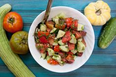 Herbed Cucumber and Tomato Salad| Back to Her Roots