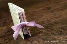 Origami Popup Book Video Tutorial,   Learn how to make an origami pop up book…