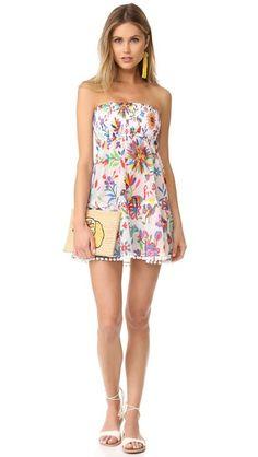 Milly Smocked Flounce Dress