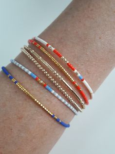 Seed bead friendship bracelets, miyuki delica bracelets and gold beaded bracelets bohemian stack