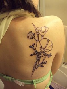 poppy flower tattoo 34 - 70 Poppy Flower Tattoo Ideas  <3 <3