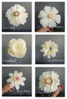 librarian tells all: Handmade Felt Wedding Bouquets Look Like a Fondant Confectionery Dream Come True!