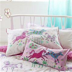 Horsing Around Peony Bed Linen   Designers Guild Kids