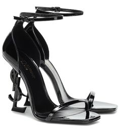 Get the must-have sandals of this season! These Saint Laurent Black Ysl Opyum Heels Sandals Size EU 36 (Approx. US Regular (M, B) are a top 10 member favorite on Tradesy. Leather Wedge Sandals, Suede Sandals, Leather Wedges, Dr Shoes, Cute Shoes, Shoes Heels, Saint Laurent Shoes, Luxury Shoes, Black Patent Leather