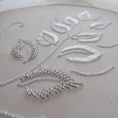 Latest Trend In Embroidery on Paper Ideas. Phenomenal Embroidery on Paper Ideas. Tambour Beading, Tambour Embroidery, Bead Embroidery Patterns, Couture Embroidery, Bead Embroidery Jewelry, Paper Embroidery, Hand Embroidery Stitches, Embroidery Fashion, Hand Embroidery Designs