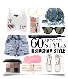 """""""60 Second Style - Insta-ready"""" by ittie-kittie ❤ liked on Polyvore featuring Topshop, NARS Cosmetics, Ray-Ban, Bobbi Brown Cosmetics, Vita Fede, Valentino, Chantecaille, Ettika, Kevyn Aucoin and Summer"""