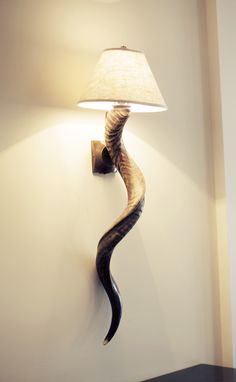 Dira Kudu Horn Wall Sconce Imported Africa Contemporary