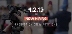 Production company is seeking crew and cast for hire.
