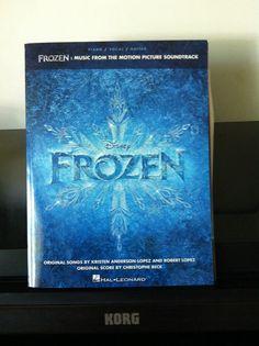 Frozen sheet music for piano.