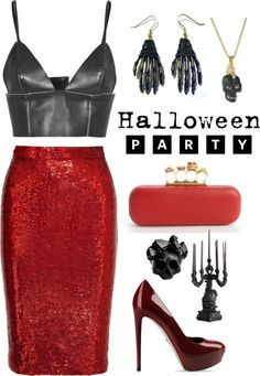 """""""Halloween Partyyyy up"""" by lifeaskaleidoscope ❤ liked on Polyvore"""
