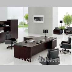 Meet all of your office space needs with this simple but beautiful desk furniture. The Dawn is a well appointed executive desk that increases your everyday office activity even more efficiency. Modern desk furniture is made both beautiful and practical System Furniture, Contract Furniture, Modular Furniture, Office Furniture, Modern Office Table, Office Table Design, Office Interior Design, Office Designs, Modern Desk