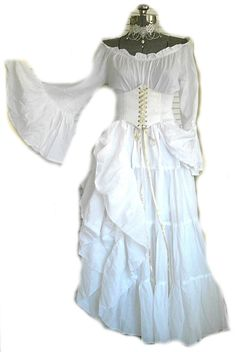 Hey, I found this really awesome Etsy listing at https://www.etsy.com/listing/255929557/white-renaissance-costume-wedding-gown