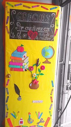 Pin de briselda reyes en inicio de clases pinterest for Puertas decoradas para el 10 de mayo