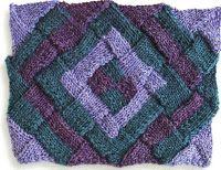 Entrelac knitting patterns.