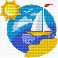 Tropical climate (boat, sky, water, sea, ocen, sun, wind, sail)