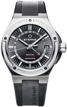 Eterna Watch Royal KonTiki GMT #bezel-fixed #bracelet-strap-rubber #brand-eterna #case-depth-12-65mm #case-material-steel #case-width-42mm #date-yes #delivery-timescale-call-us #dial-colour-black #gender-mens #gmt-yes #luxury #movement-automatic #official-stockist-for-eterna-watches #packaging-eterna-watch-packaging #style-dress #subcat-eterna-gmt #subcat-kontiki #supplier-model-no-7740-40-41-1289 #warranty-eterna-official-2-year-guarantee #water-resistant-100m