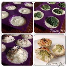 Muffin con centro de brocoli - blovver