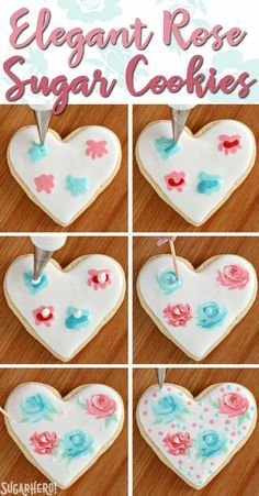 Valentine's Day Sugar Cookies - classic sugar cookies decorated with royal icing in a variety of gorgeous Valentine's Day designs | From SugarHero.com