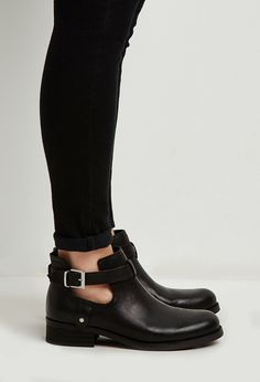Buckled Ankle-Strap Booties | Forever 21 | #stepitup