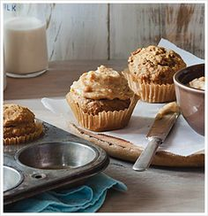 banana cupcakes with peanut butter frosting - the eat-clean diet