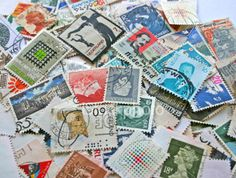 Mixed vintage stamps