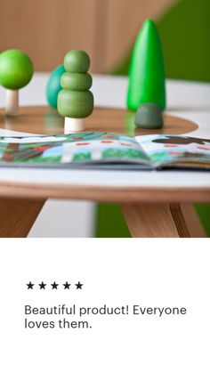 Woodland Tree Set (10 pcs) by HappyTreeStore. Express Worldwide Shipping. Educational Eco-friendly Toys for baby. Green Wooden Tree Figures | Forest Set | Wooden Trees | Nature Table Play Set | Waldorf Toys | Pretend Play #woodentoy #toy #wood