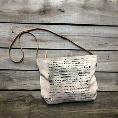 Neutral beige cross body, slouchy hobo bag, hand painted daybag, leather details shoulder bag