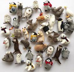 23 Clever DIY Christmas Decoration Ideas By Crafty Panda Needle Felted Animals, Felt Animals, Hobbies And Crafts, Arts And Crafts, Needle Felting Tutorials, Felt Fairy, Felt Brooch, Handmade Felt, Wet Felting
