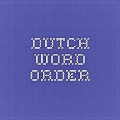 Dutch word order