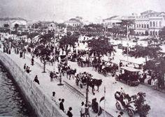 Batalha de Confete na Avenida Beira-Mar, no Rio de Janeiro, em 1907.