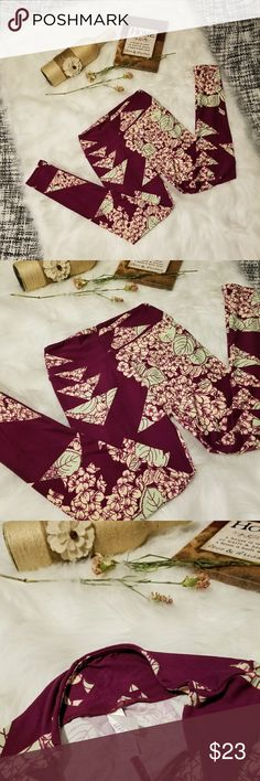 🌻🌺🌻LULAROE LEGGINGS NWOT!! LULAROE LEGGINGS NWOT!! New without tags, one size. Deep purple background with floral design. Beautiful! Posh Ambassador, buy with confidence! Check out my other items to bundle and save on shipping! offers welcome. I ship same or next day!    Inventory #PA16 LuLaRoe Pants Leggings