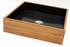 Natural Black Wooden Basin by BubingaWoodDesign on Etsy, $699.00