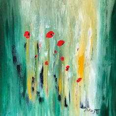 Painting by Vilcaz, Popppies in Green Field, 32x32. More of her work is available at The Westport River Gallery. http://www.westportrivergallery.com/vilcaz-corrine-french-expressionist.html