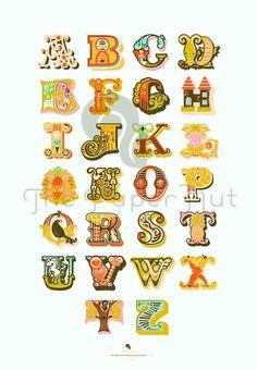 18X26 alphabet print. Reserved listing.
