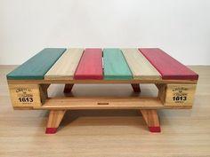Mäusetisch Wohnzimmerpalette Typ Vintage Design - My CMS Wooden Pallet Furniture, Diy Furniture Projects, Diy Pallet Projects, Rustic Furniture, Wood Pallets, Diy Möbelprojekte, Diy Storage Shelves, Diy Holz, Home Room Design