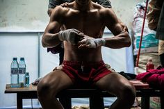 An afternoon in the arena: Neak Pradals (Khmer boxe) by Thomas Cristofoletti, via Behance