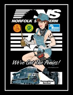 Norfolk Southern Pin-Up by ~yankeedog on deviantART