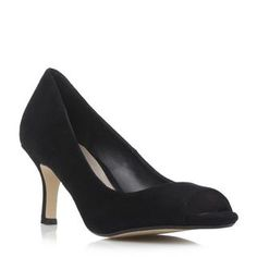 DUNE LADIES DELPHINN - Peep Toe Mid Heel Court Shoe - black | Dune Shoes Online
