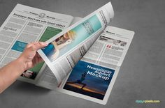 Bonus holding position + iPhone 6S screen mockup | 9 Newspaper PSD Advertisement Mockups by ZippyPixels #mockups #newspaper #psd #template #advertising #advertisment #ads #photoshop #photorealistic #presentation #customizable