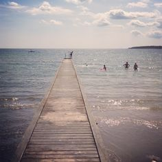 Slite strand – Gotlandstips.se  #beach #sand #ocean #holiday #gotland #sweden #pier Beaches, Swimming, Ocean, Water, Holiday, Outdoor, Water Water, Aqua, Vacations