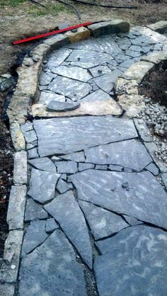 Flagstone Walkway Installation