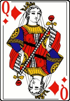 Image result for red queen playing card