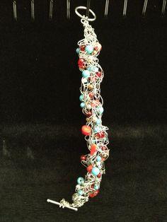 Silver Southwestern Wire Crochet Bracelet by LadybugCharJewelry, $25.00