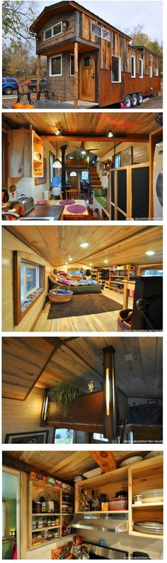 This is the Red Mountain 34′ Tiny House   Red Mountain is a group of three peaksin between Silverton and Ouray, CO.   This Tiny Home got...