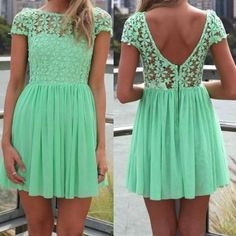 Mint Green Women Summer Bandage Bodycon Lace Evening Sexy Party Cocktail MINI Dress GHJ41423BV