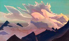 'guerrero de luz', temperas de Nicholas Roerich (1874-1947, Russia)