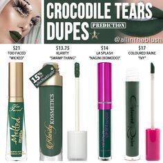 JEFFREE STAR CROCODILE TEARS VELOUR LIQUID LIPSTICK PREDICTION DUPES. Use code ALLINTHEBLUSH to save 15% off at Klarity Kosmetics!